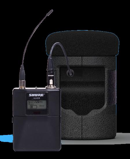 Catchbox Mod Capsule mit angeschlossenem Shure-Beltpack