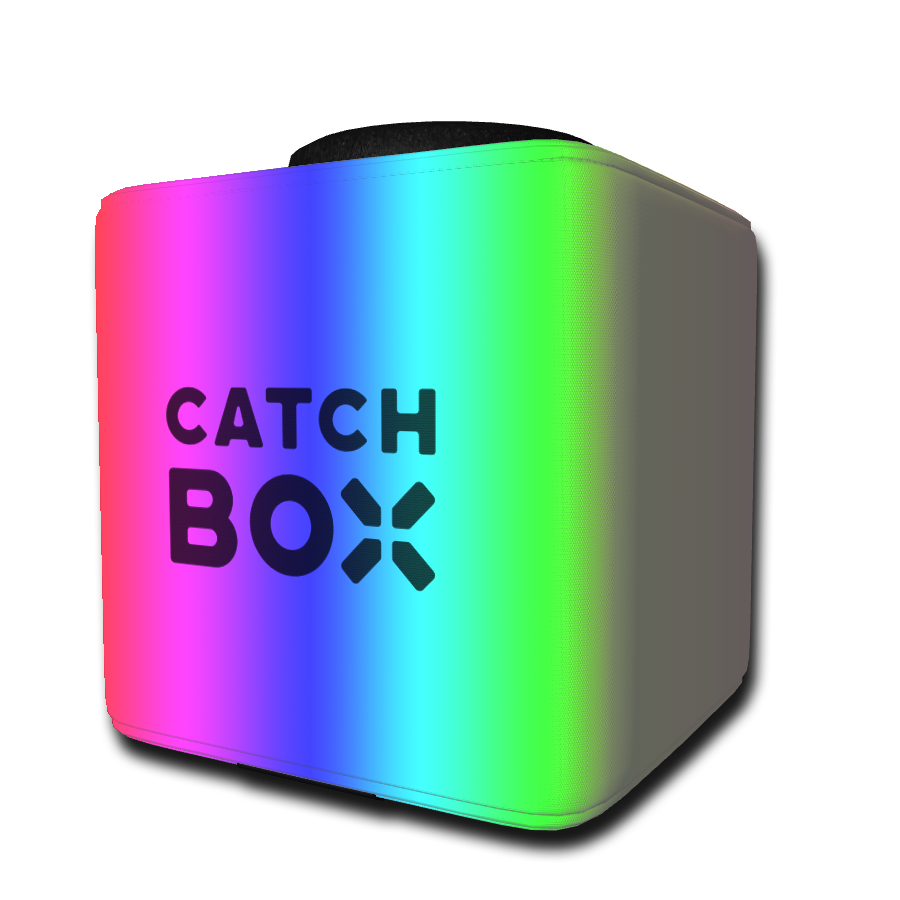 Die Catchbox mit individueller Grundfarbe